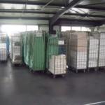 Local de stockage du linge propre en attendant la livraison